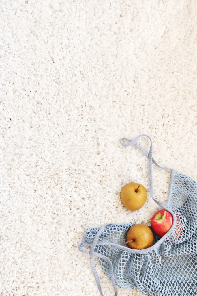 reusable produce bag with apples inside