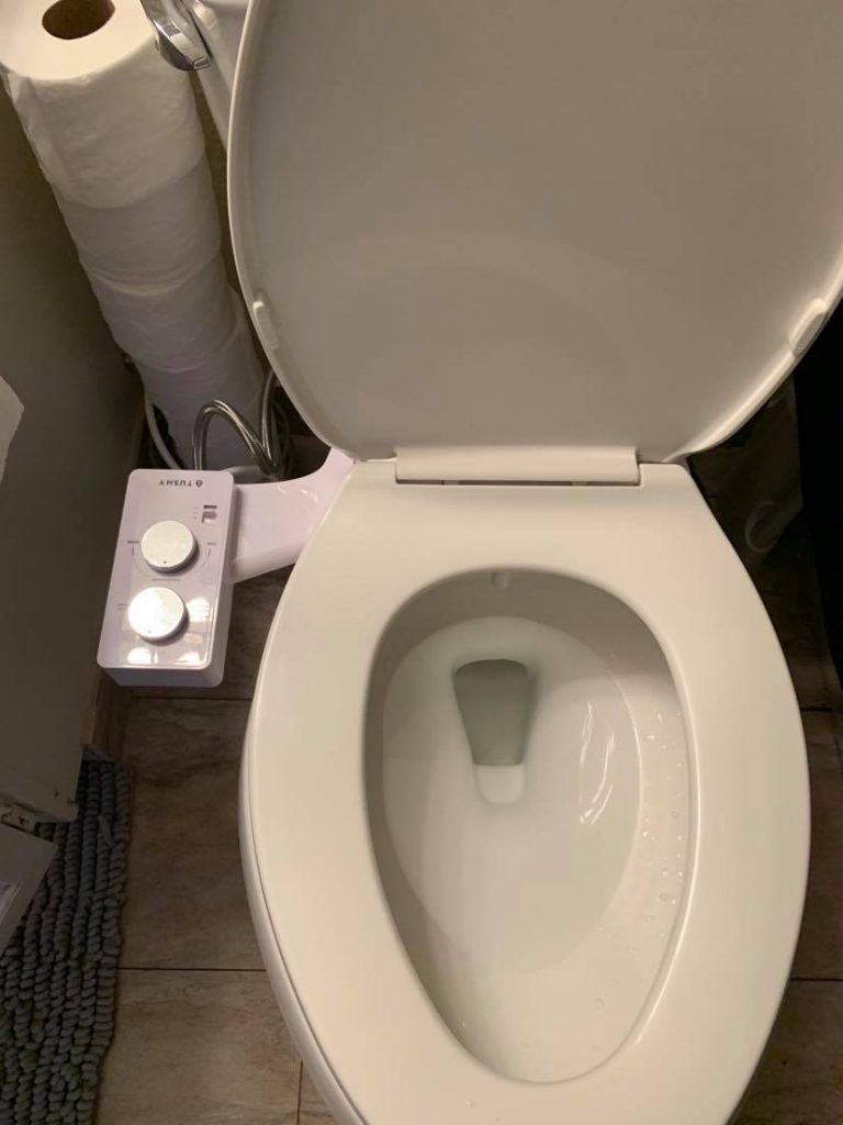 spa bidet by TUSHY attached to toilet seat