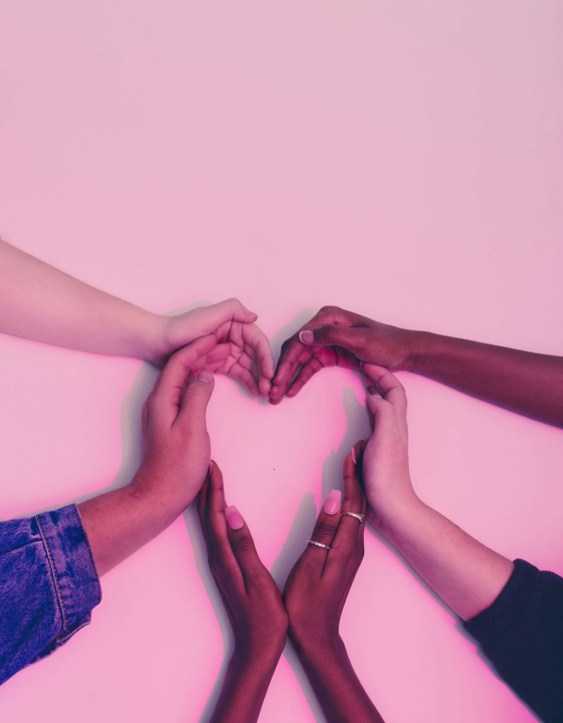 hands making a heart together