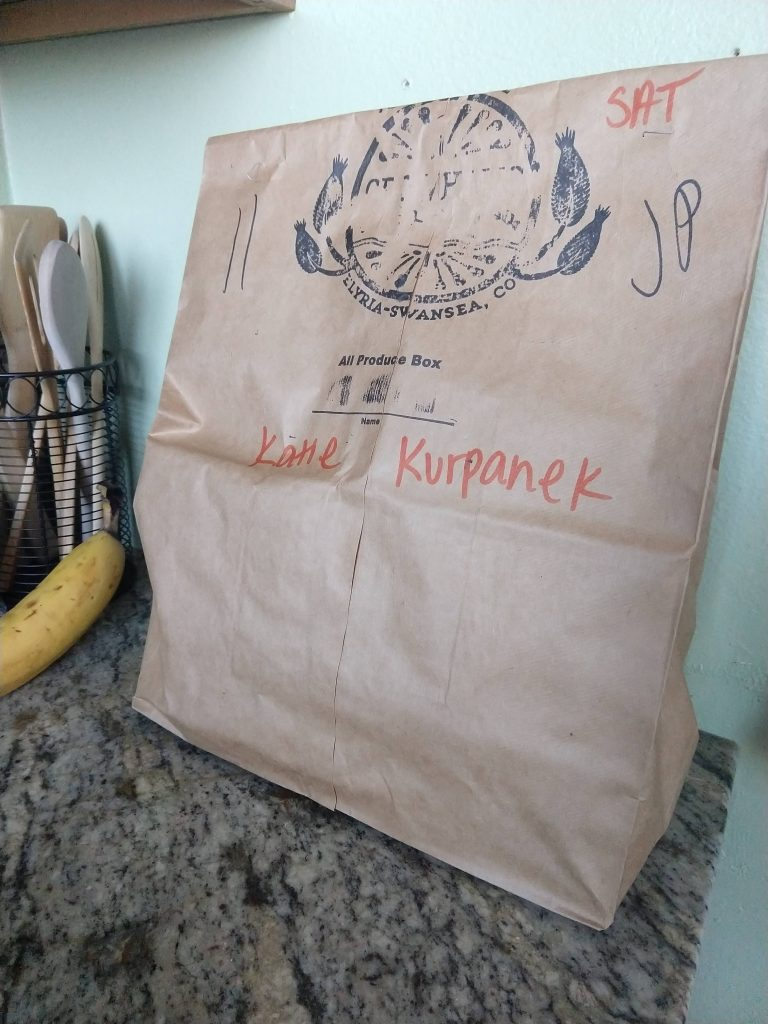 my bag of produce so I can support local farmers