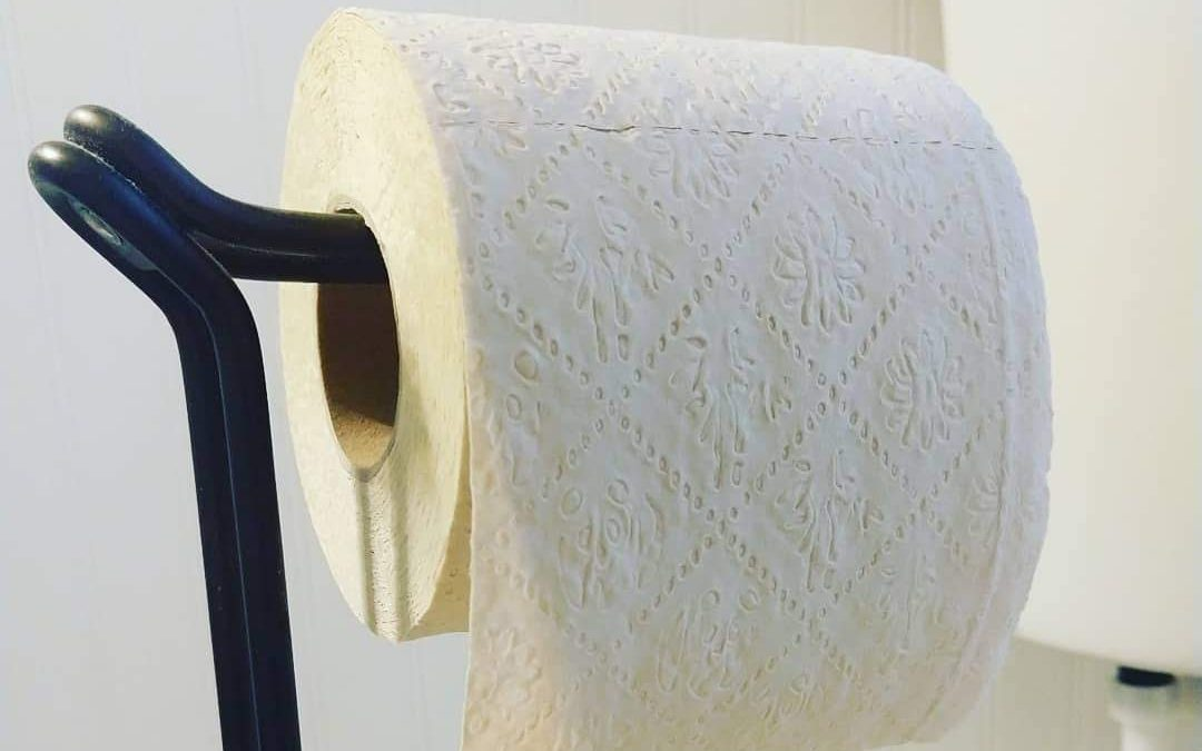 toilet paper bathroom tissue on stand
